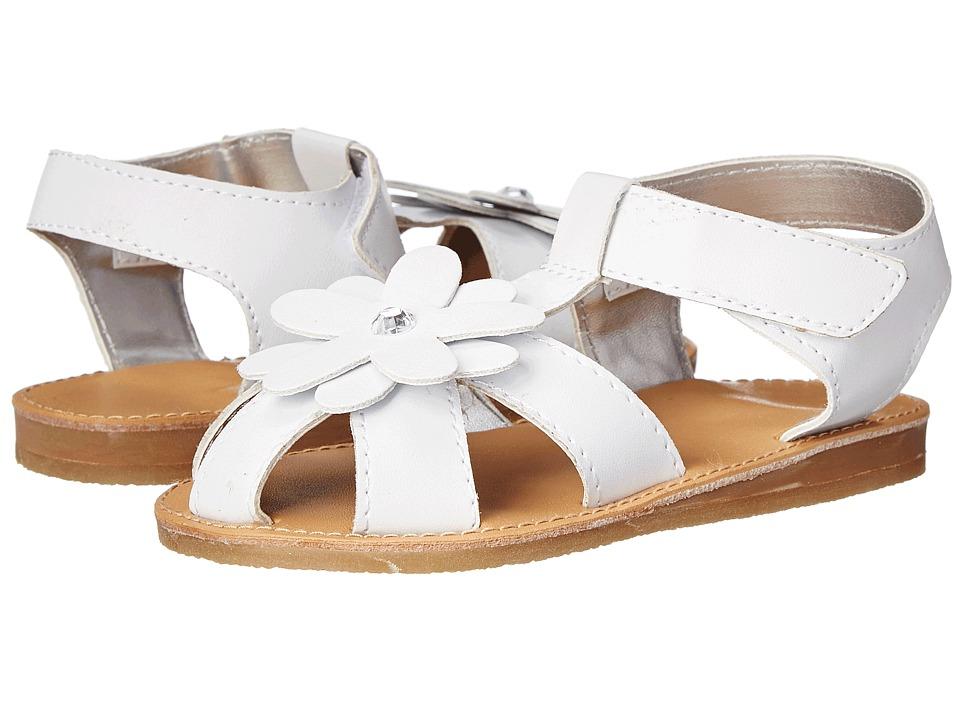 Baby Deer T Strap Sandal Infant/Toddler White Girls Shoes