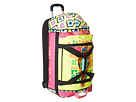 Gypsy SOULE Go Forward Roller Luggage (Turquoise/Lime/Pink)