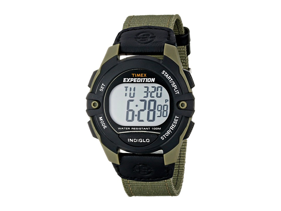 Timex Expedition Full Size Digital Cat Nylon Strap Watch Black/Green Watches