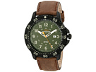Expedition Rugged Resin Dial Leather Strap Watch