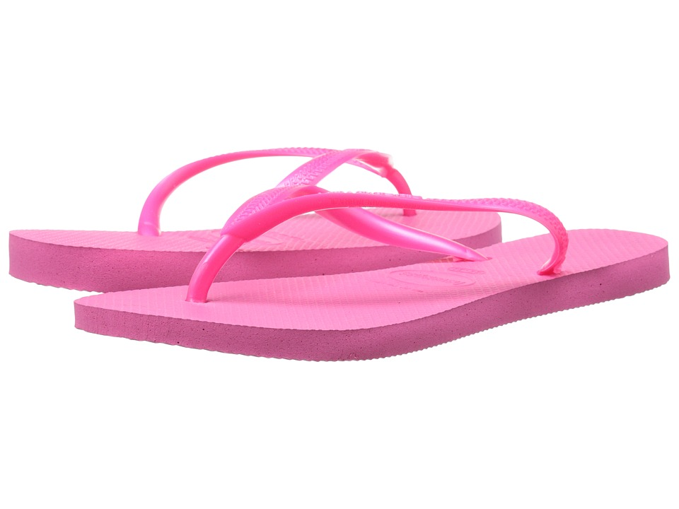 Havaianas Slim Flip Flops (Shocking Pink) Sandals