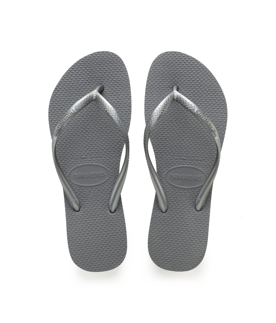 Havaianas Slim Flip Flops (Steel Grey) Sandals