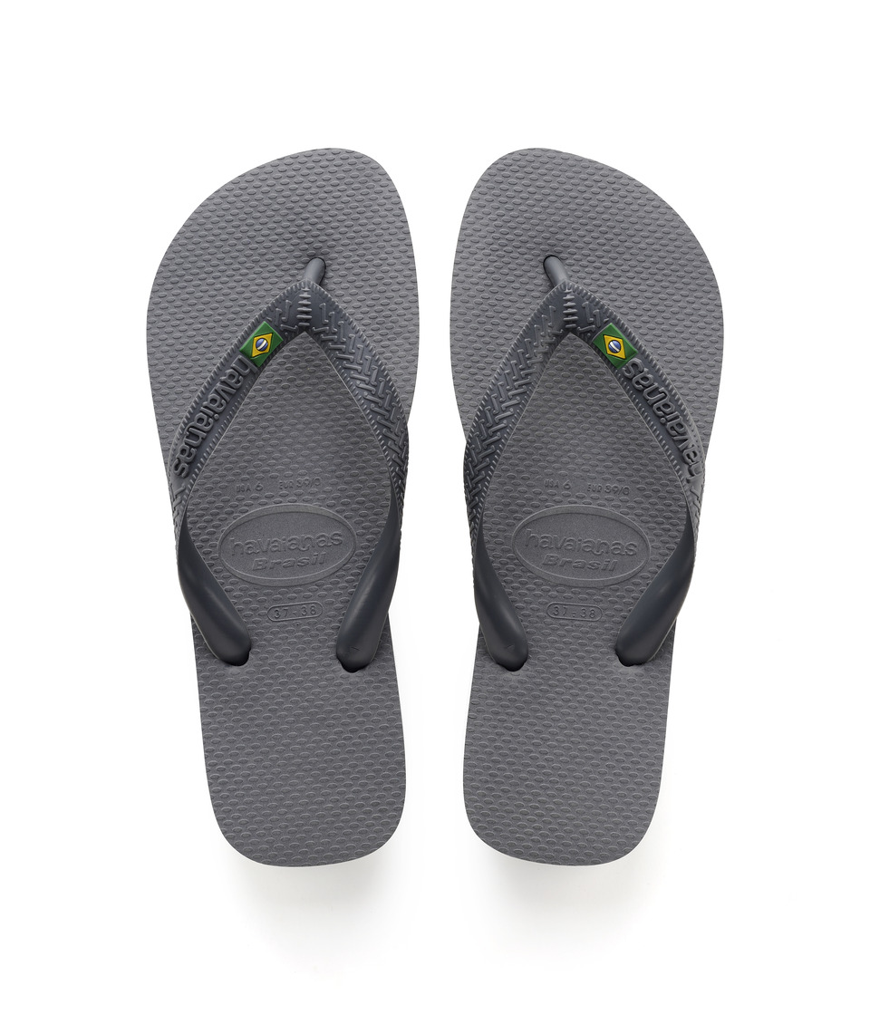 Havaianas - Brazil Flip Flops (Steel Grey) Womens Sandals