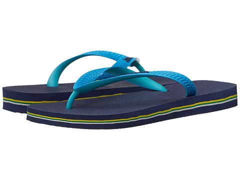 Havaianas Brazil Mix Flip Flops - Navy Blue/Turquoise
