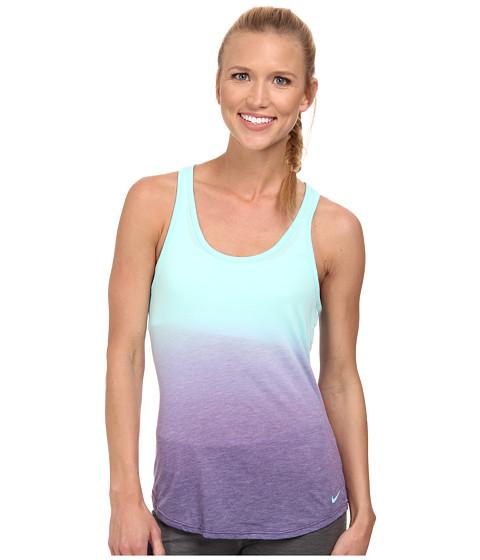Nike - Dri-FIT DB Dip Dye Tank Top (Artisan Teal/Ink/Cool Grey) Women's Sleeveless