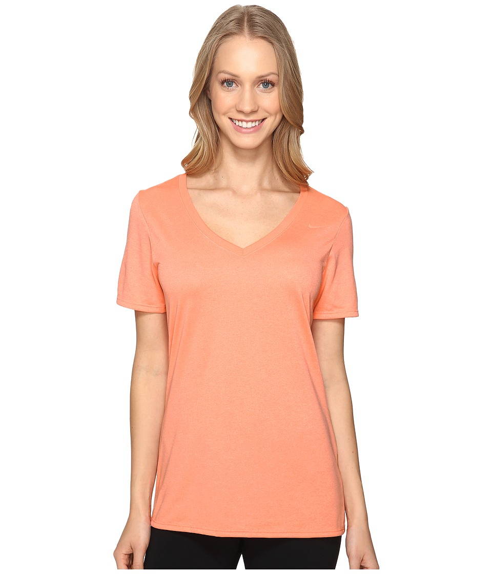 Nike Legend 2.0 V-Neck Training Tee (Sunblush/Sunblush) Women
