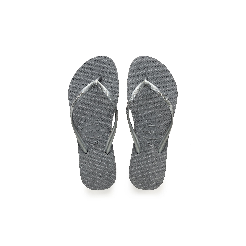 Havaianas Kids Slim Flip Flops Toddler/Little Kid/Big Kid Steel Grey Girls Shoes
