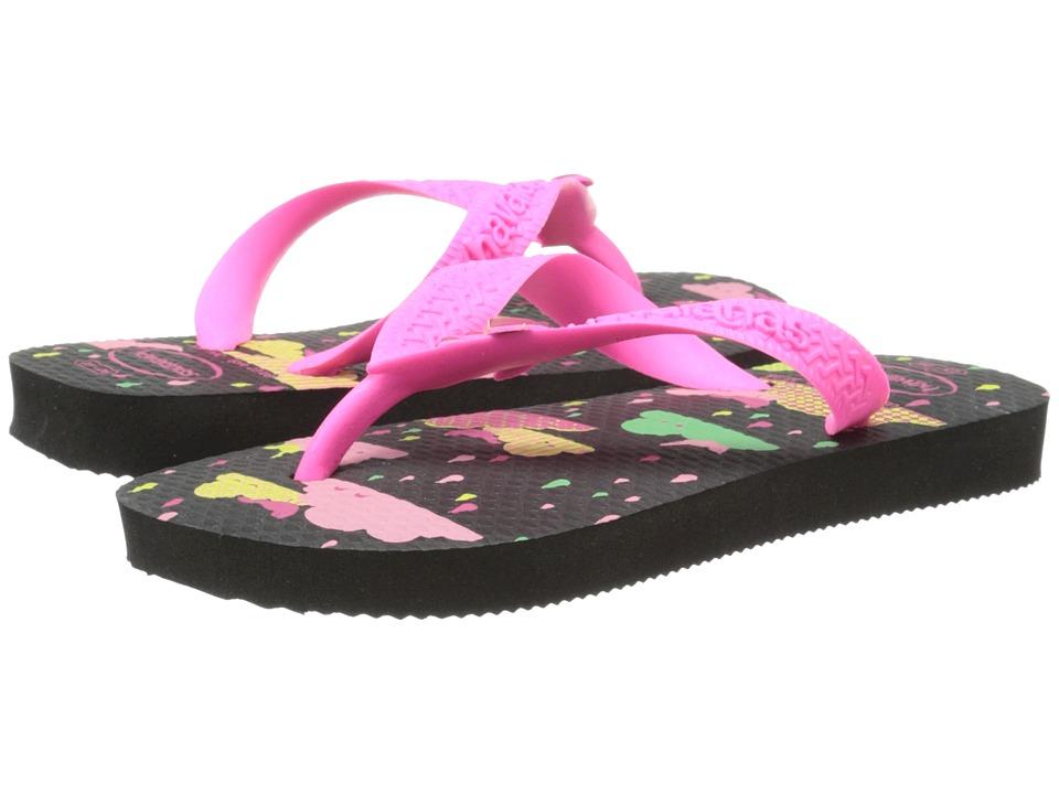 Havaianas Kids - Fantasy (Toddler/Little Kid/Big Kid) (Black) Girls Shoes