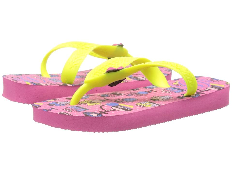 Havaianas Kids Fantasy Toddler/Little Kid/Big Kid Shocking Pink Girls Shoes