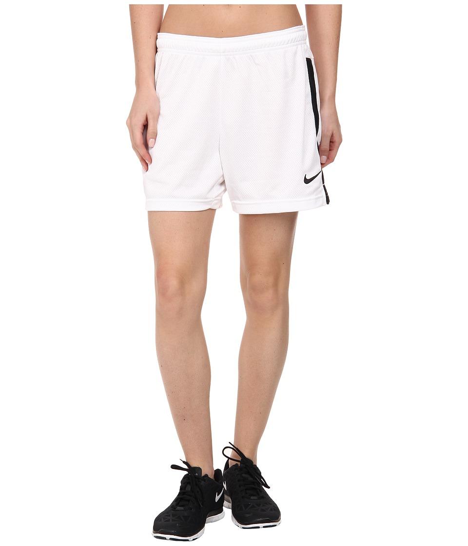 Nike Dri-FIT Academy Knit Shorts (White/Black/Black) Women