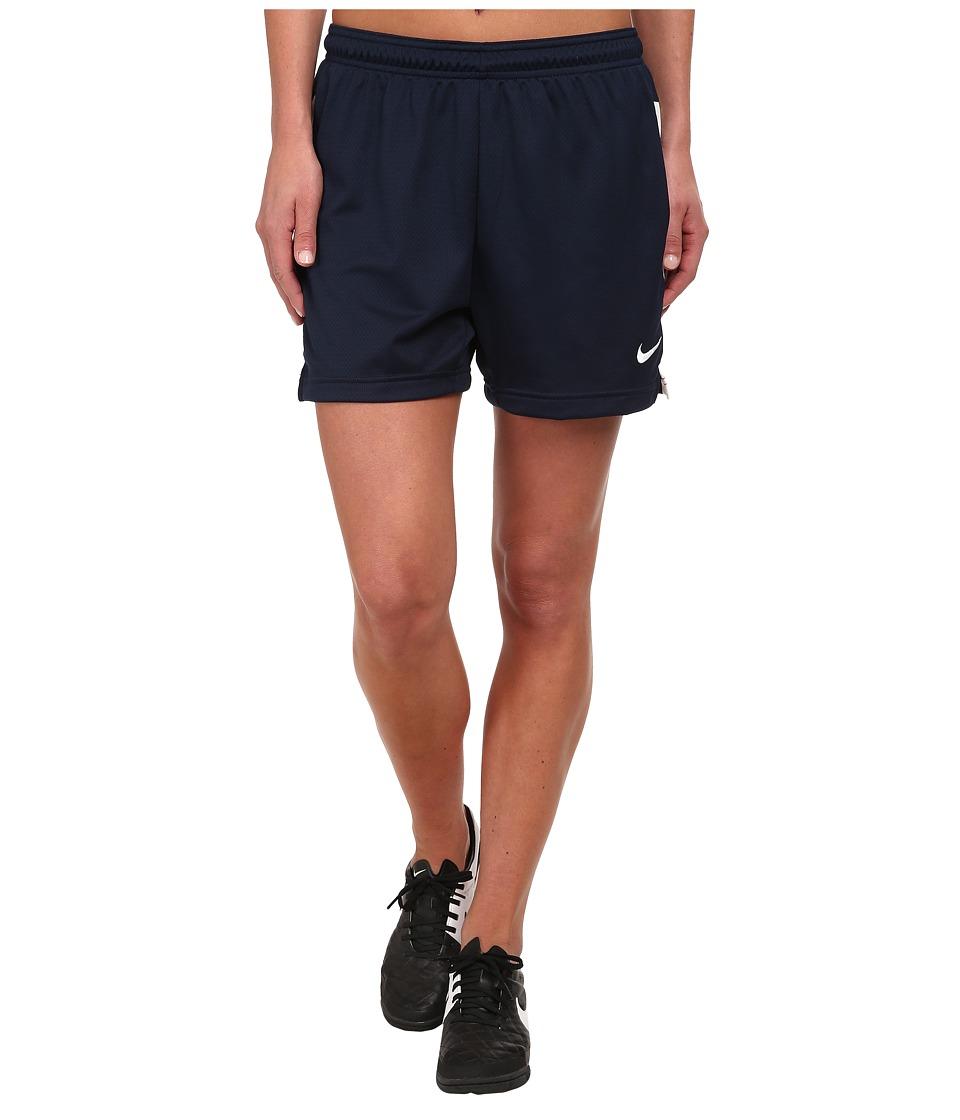 Nike Dri-FIT Academy Knit Shorts (Obsidian/White/White) Women