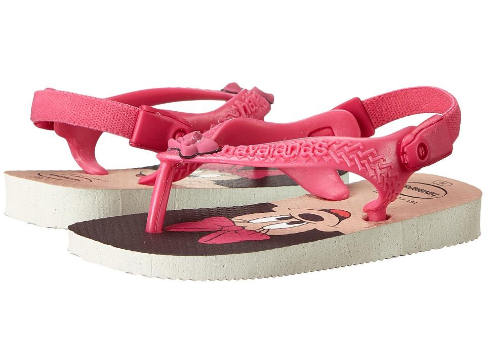 Havaianas Kids Disney Classics Toddler White/Rose Girls Shoes