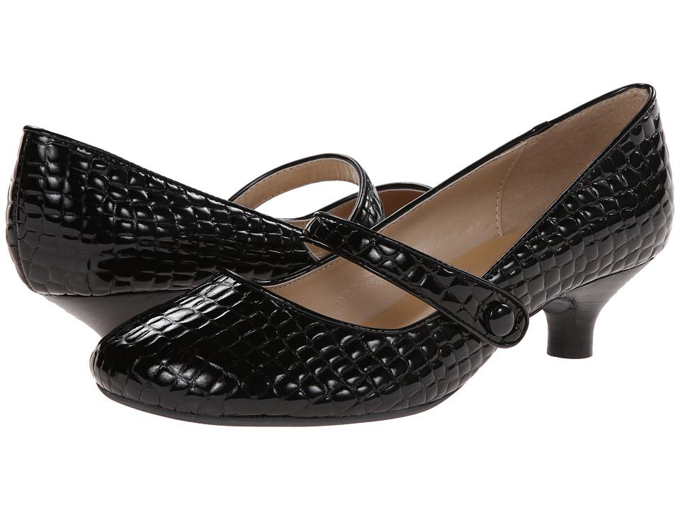 Gabriella Rocha Ginger (Black Croco Patent) Women's Maryjane Shoes