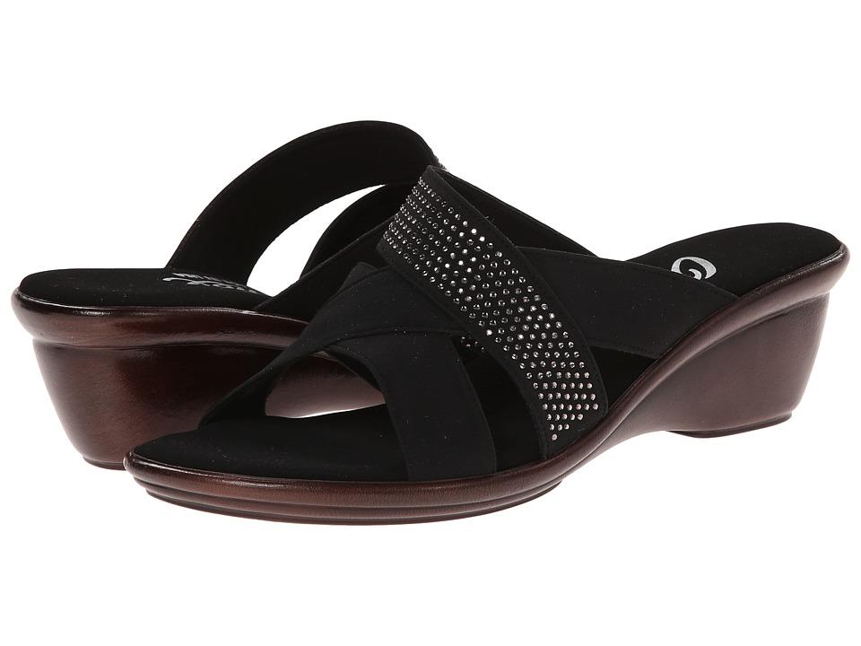 Onex Ariel Black Womens Wedge Shoes