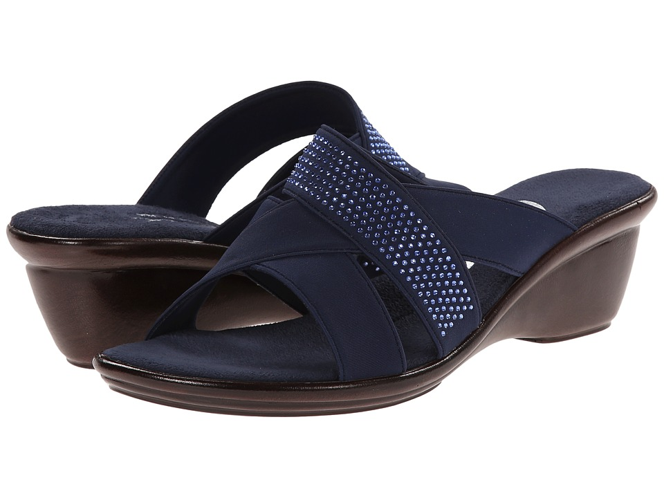 Onex Ariel Navy Womens Wedge Shoes