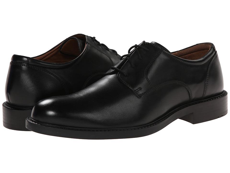 Johnston & Murphy - Tabor Plain Toe (Black Calfskin) Mens Plain Toe Shoes