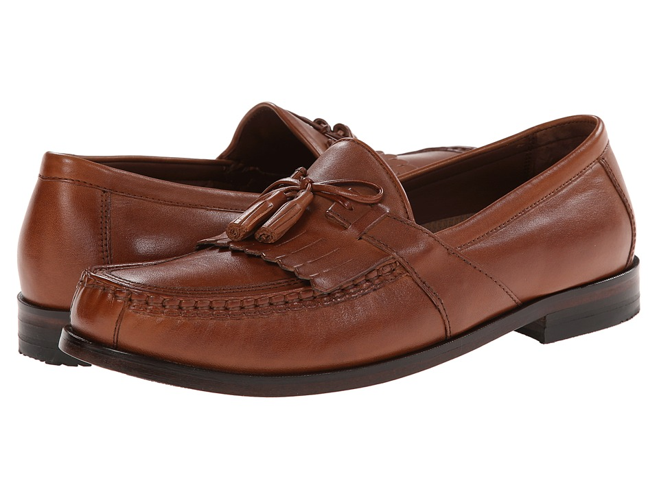 Johnston amp Murphy Aragon II Tan Calfskin Mens Slip on Shoes