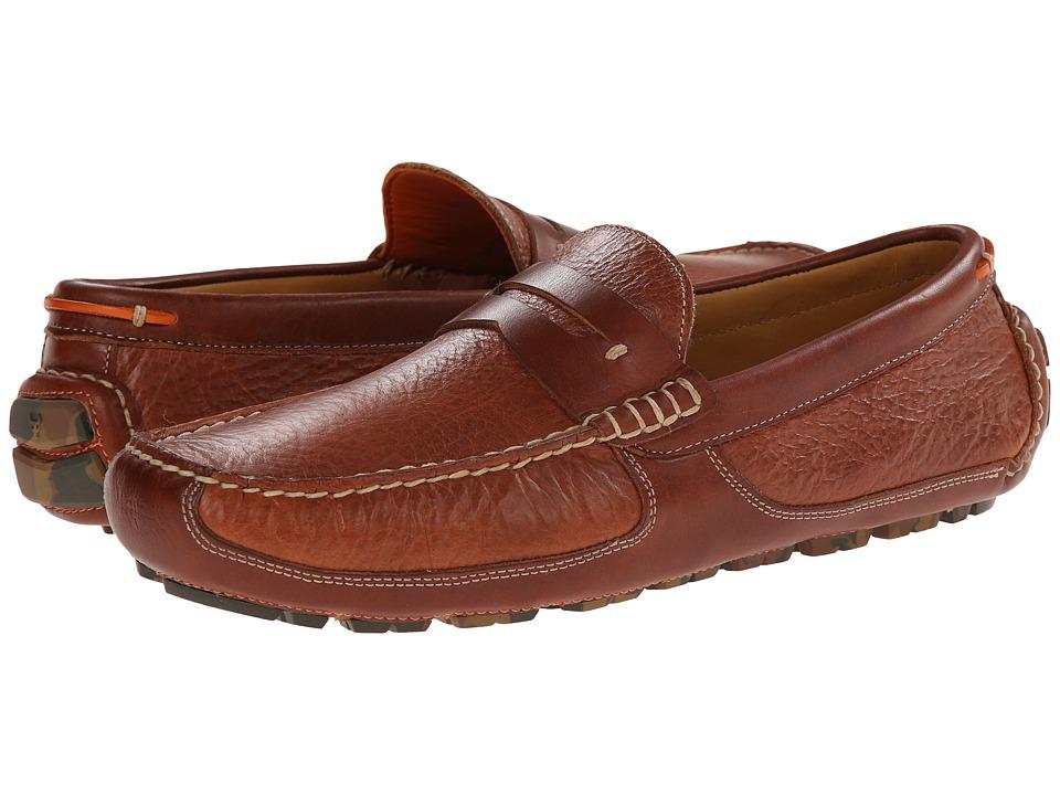 Trask - Derek (Saddle Tan American Bison) Mens Slip on  Shoes