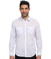 Calvin Klein - Chambray Voile Long Sleeve Woven Shirt