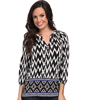 Lucky Brand - Diamond Border Top