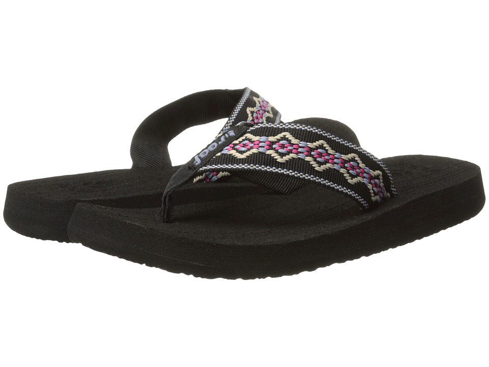 Reef Sandy (Black/Blue/Pink) Women