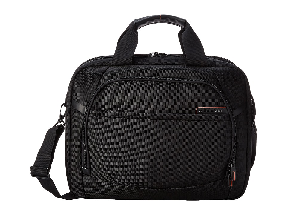 Samsonite - PRO 4 DLX 2 Gusseted PFT/TSA Briefcase (Black) Briefcase Bags