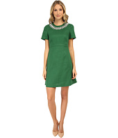 Kate Spade New York - Embellished Linen Bell Sleeve Dress