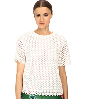 Kate Spade New York - Guipure Lace Scallop Top