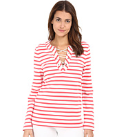 Kate Spade New York - Cotton Jersey Lace-Up Top