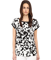 Kate Spade New York - Leafy Floral Cap Sleeve Top