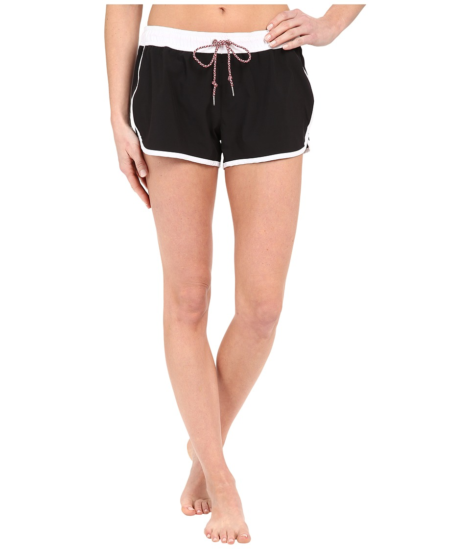 Seafolly Beach Runner Boardshort (Black/White) Women