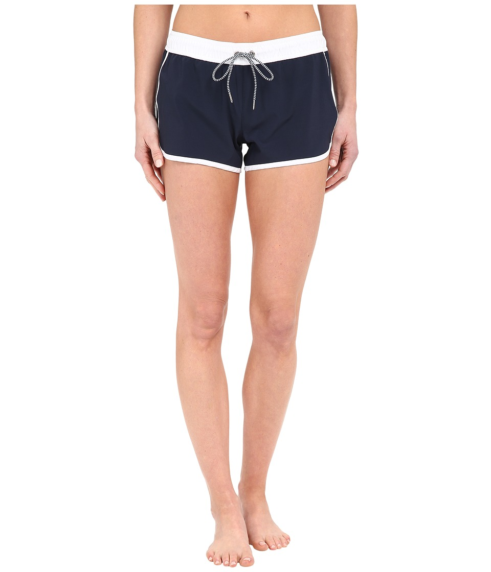 Seafolly Beach Runner Boardshort Indigo/White Womens Swimwear