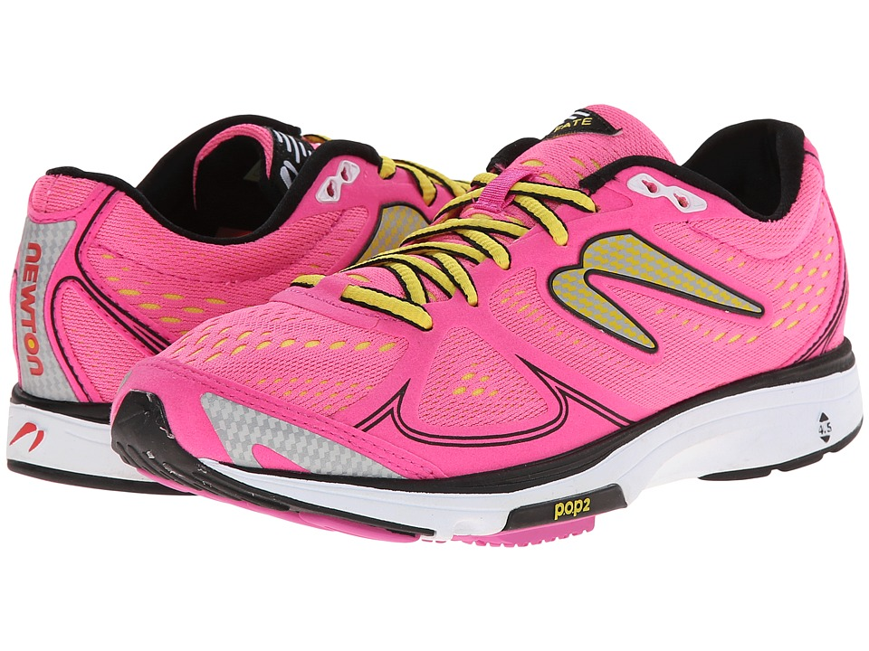 Newton Running Fate Pink/Yellow Womens Running Shoes