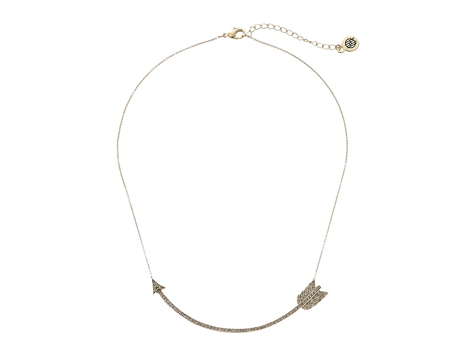 House of Harlow 1960 Arrow Affair Collar Necklace Gold Necklace