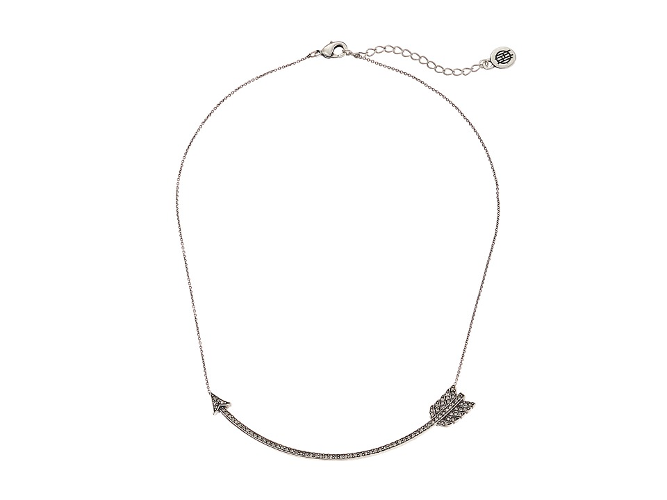 House of Harlow 1960 Arrow Affair Collar Necklace Silver Necklace