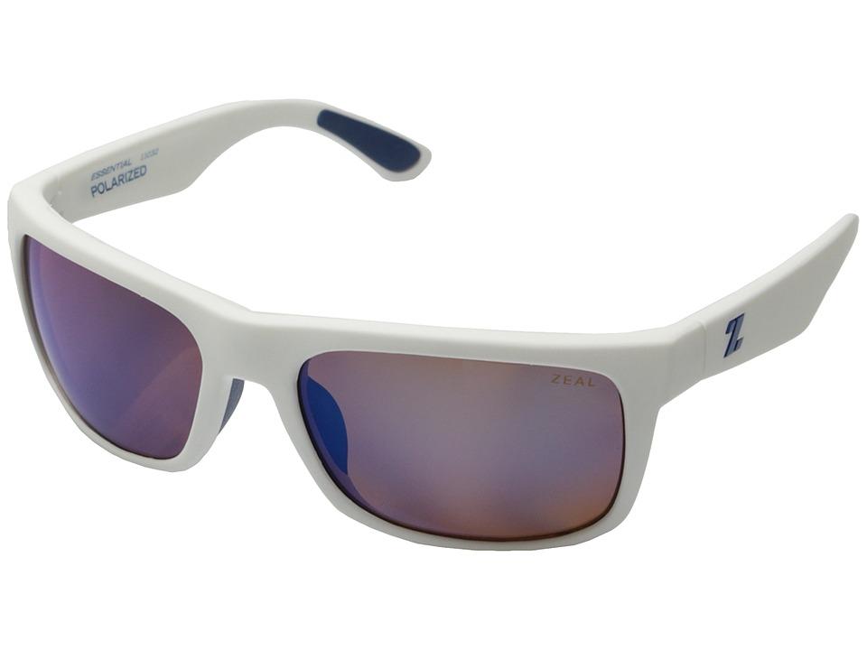 Zeal Optics Essential White River w/ Polarized Blue Lens Polarized Fashion Sunglasses