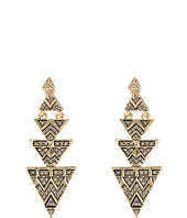 House of Harlow 1960 - Pave Tribal Triangle Earrings