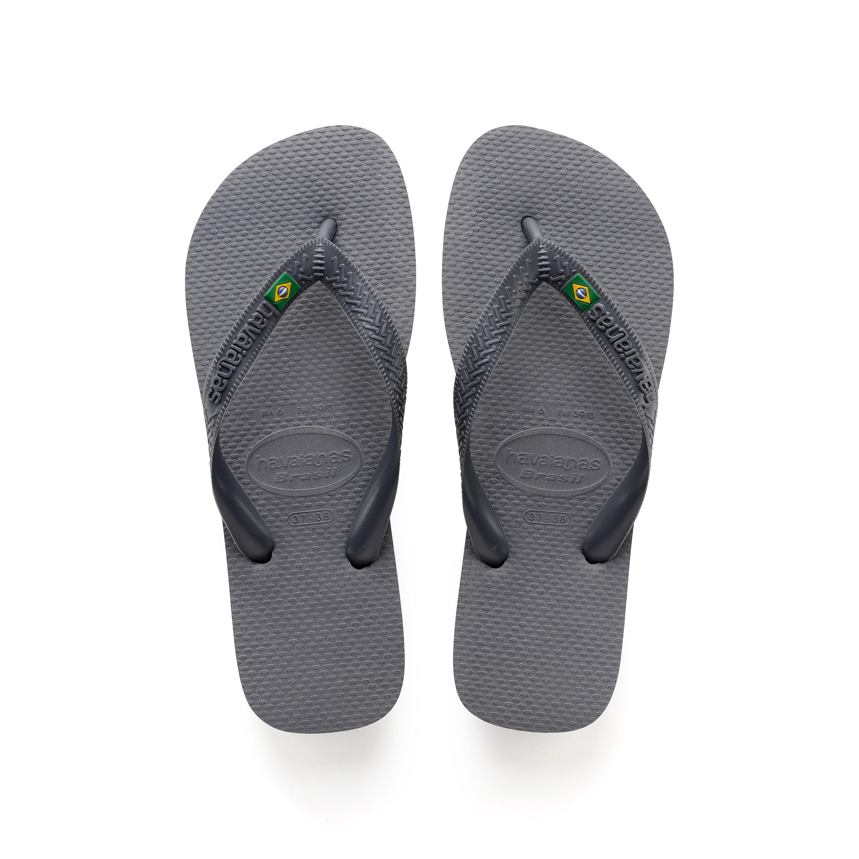 Havaianas Brazil Flip Flops Steel Grey Mens Sandals
