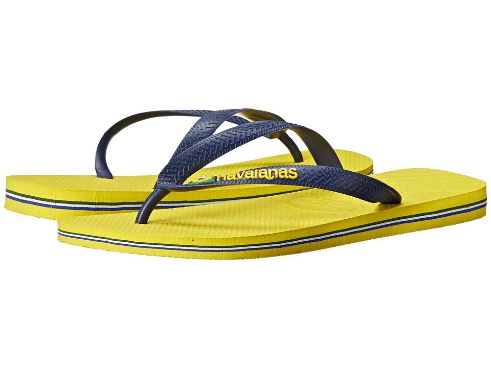 Havaianas Brazil Logo Flip Flops (Citrus Yellow) Men