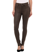7 For All Mankind - Knee Seam Skinny w/ Contour WB in Mink Leather-Like