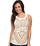 Lucky Brand - Metallic Embroidered Tank Top