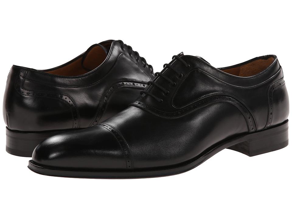 Mezlan - March (Black) Mens Lace Up Cap Toe Shoes