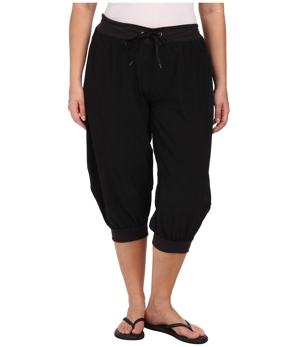 Soybu Plus Size Julie Capri Black Womens Capri