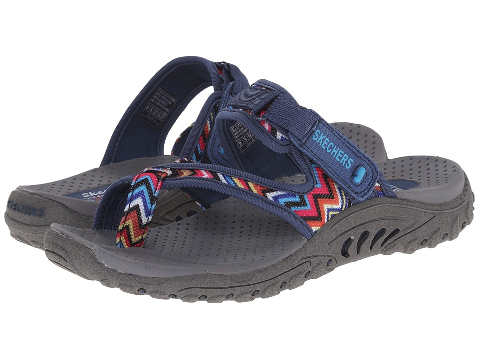 SKECHERS - Reggae-Zig Swag (Navy) Womens Sandals