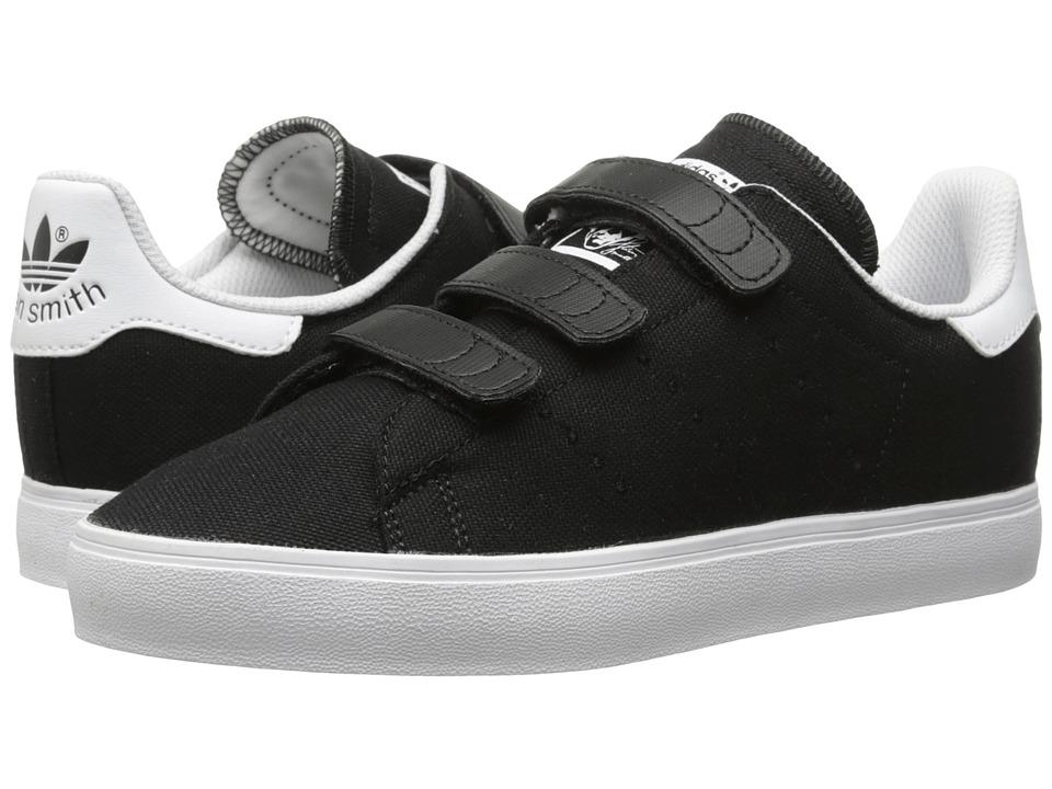adidas Originals Kids Stan Smith Vulc CF Little Kid Core Black/Core Black/White Kids Shoes