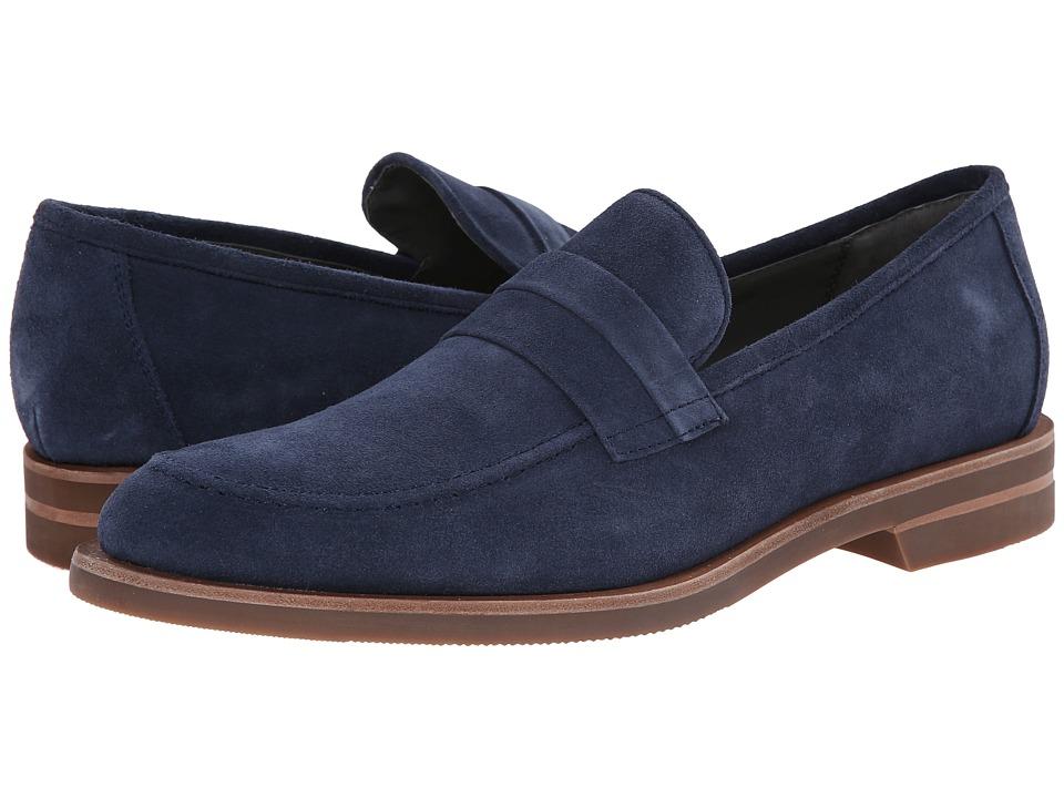 Calvin Klein - Yurik Dark Blue High Suede Mens Dress Flat Shoes $150.00 AT vintagedancer.com