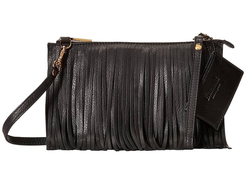 Hammitt Getty Fringe Black/Gold Cross Body Handbags