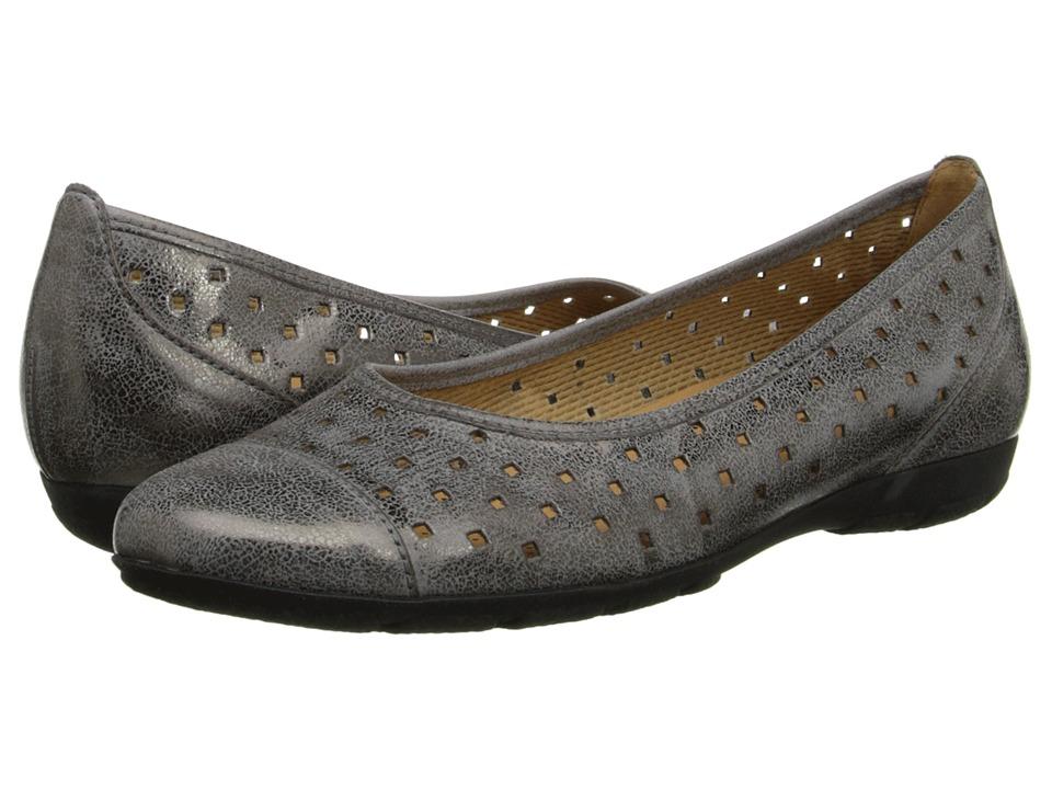 Gabor Gabor 2.4169 Argento Used Metallic Brush Womens Flat Shoes