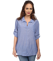 Christin Michaels - Cotton Chambray Shirt