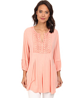 Christin Michaels - Lace Embelished Crepe Top